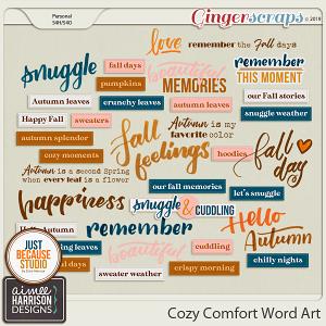 Cozy Comfort Word Art by Aimee Harrison and JB Studio