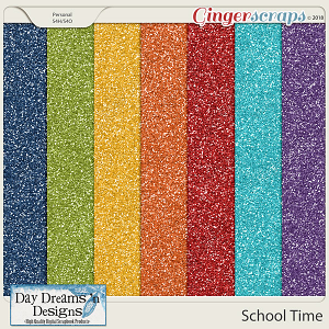 School Time {Glitter Papers} by Day Dreams 'n Designs