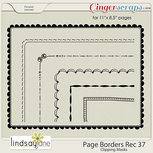 Page Borders Rec 37 by Lindsay Jane