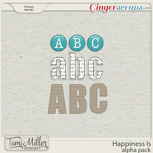 Happiness Is Alpha Pack by Tami Miller Designs