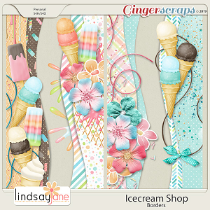 Icecream Shop Borders by Lindsay Jane
