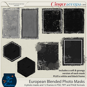 European Blended Photo Masks by Miss Fish Templates