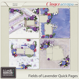 Fields of Lavender Quickpages by Aimee Harrison