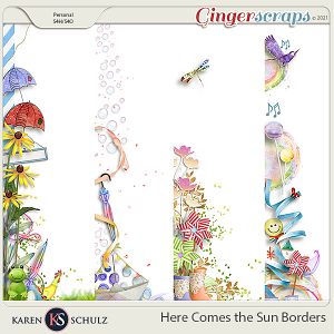 Here Comes the Sun Borders by Karen Schulz