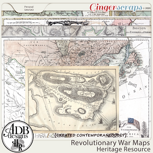 Heritage Resources Revolutionary War Maps by ADB Designs