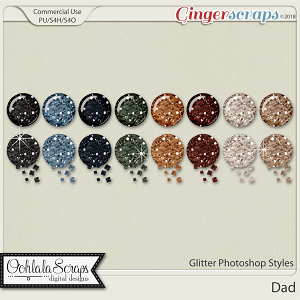 Dad CU Glitter Photoshop Styles