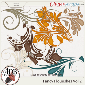 Heritage Resource - Fancy Flourishes Vol 02 by ADB Designs
