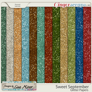 Sweet September Glitter Papers from Designs by Lisa Minor