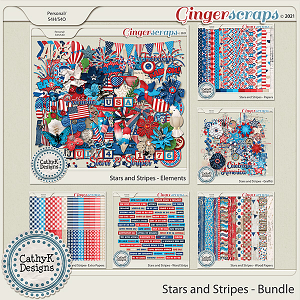 Stars and Stripes - Bundle by CathyK Designs
