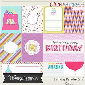 Birthday Parade- Girls Cards