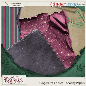 Gingerbread Kisses Shabby Papers