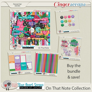 On That Note Bundle by Luv Ewe Designs and Blue Heart Scraps