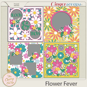The Cherry On Top:  Flower Fever Templates