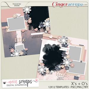X's + O's - Templates - by Neia Scraps