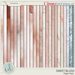 Sweet Blush Paper Pack by Ilonka's Designs