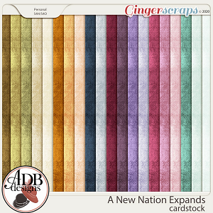 A New Nation Expands Solid Papers by ADB Designs