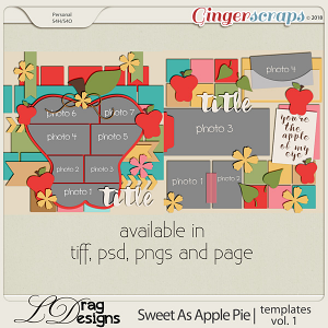 Sweet As Apple Pie: Templates Vol.1 by LDragDesigns