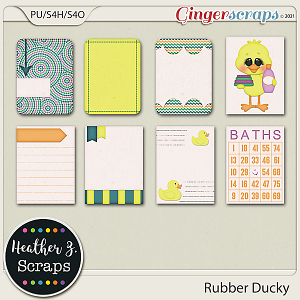 Rubber Ducky JOURNAL CARDS by Heather Z Scraps