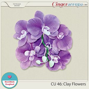 CU 46 - Clay flowers - orchid