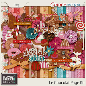 Le Chocolat Page Kit by Aimee Harrison