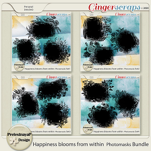 Happiness blooms from within Photomasks Bundle