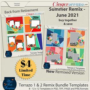 Terrazo Templates Remix Bundle by Miss Fish Templates