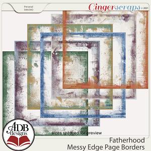 Fatherhood Page Borders by ADB Designs
