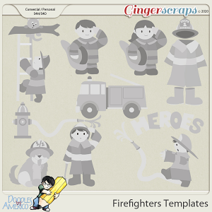 Doodles By Americo: Firefighters Templates