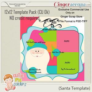Santa- 12x12 Template Pack (CU Ok) by Cutie Pie Scraps