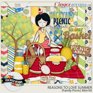 Reasons to Love Summer - Family Picnics Mini Kit by Lisa Rosa Designs