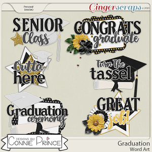 Graduation - Word Art Pack by Connie Prince