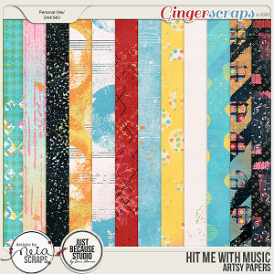 Hit Me with Music - Artsy Papers - by Neia Scraps & JB Studio