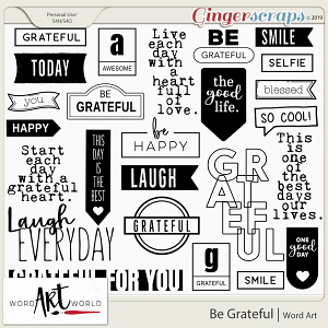 Be Grateful Word Art