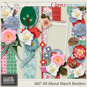 360° All About March Borders by Aimee Harrison