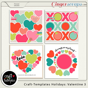 Craft-Templates Holidays Valentine 3