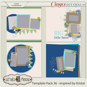 Template Pack 36 - Inspired by Kristal - by Scraps N Pieces
