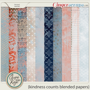 Kindness Counts Blended Papers by Chere Kaye Designs