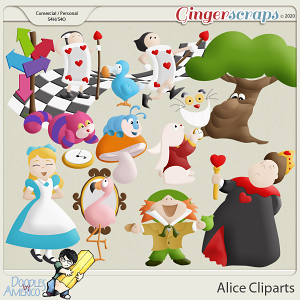 Doodles By Americo: Alice Cliparts
