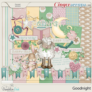 Goodnight Digital Scrapbook Kit by Dandelion Dust Designs