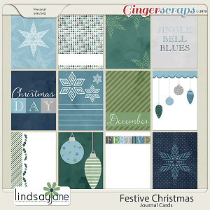 Festive Christmas Journal Cards by Lindsay Jane