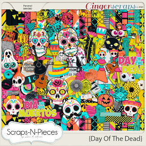Day Of The Dead Kit by Scraps N Pieces