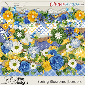 Spring Blossoms: Borders by LDragDesigns