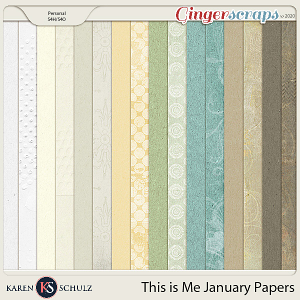 This is Me January Bonus Papers by Snickerdoodle Designs