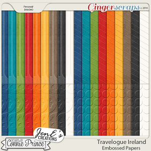 Travelogue Ireland - Embossed Papers Pack