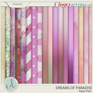 Dreams Of Paradise Paper Pack by Ilonka's Designs
