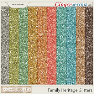 Family Heritage Glitter Papers