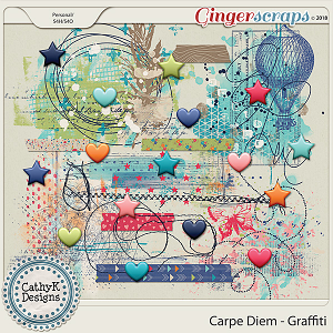 Carpe Diem - Graffiti by CathyK Designs