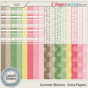 Summer Blooms - Extra Papers