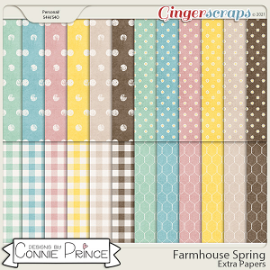 Farmhouse Spring - Extra Papers by Connie Prince