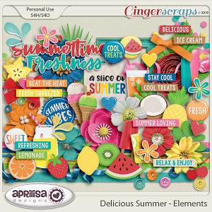 Delicious Summer - Elements by Aprilisa Designs
